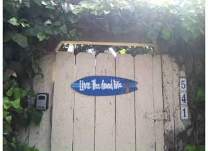 Someone's front door in Laguna Beach
